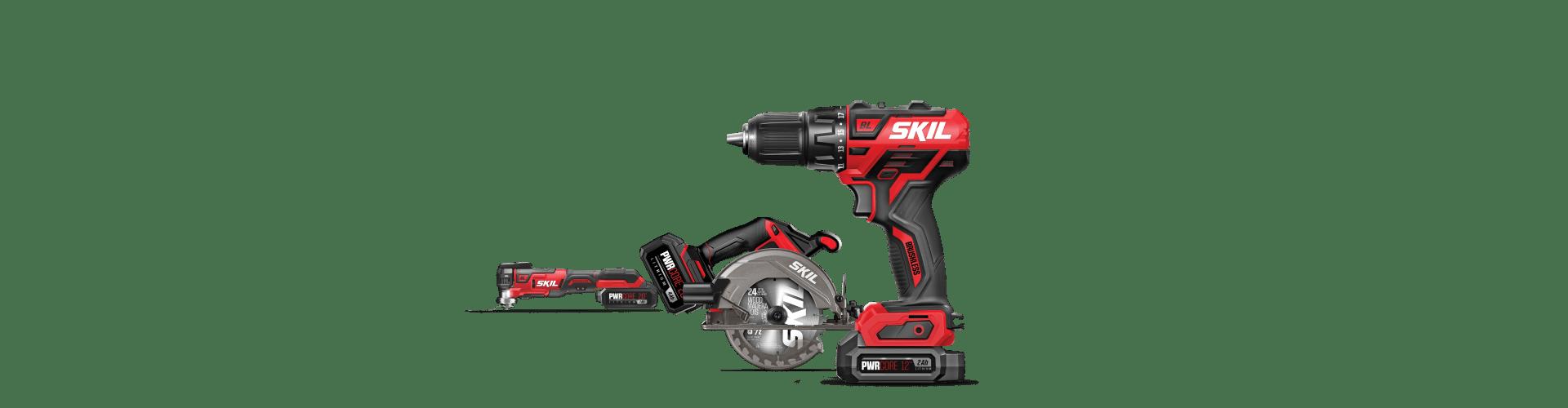 SKIL 12V Drill Driver, 20V Circ Saw and 20V Multi-Oscillating Tool