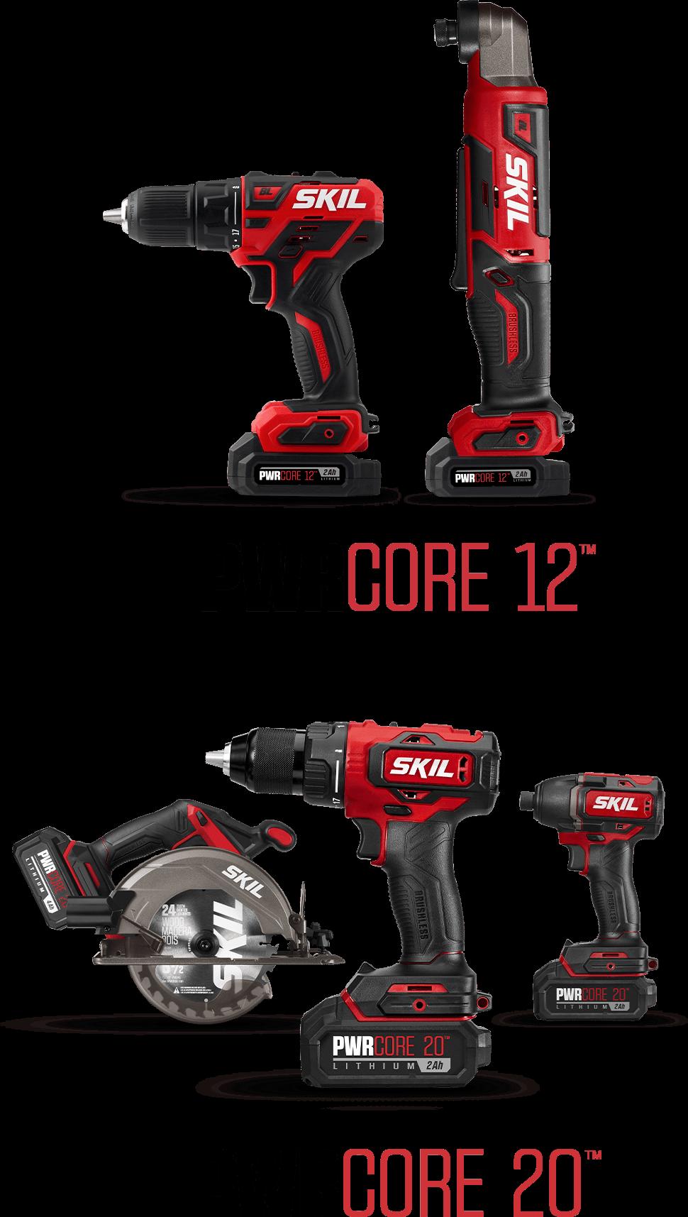 PWRCORE 12™ and PWRCORE 20™ Tools