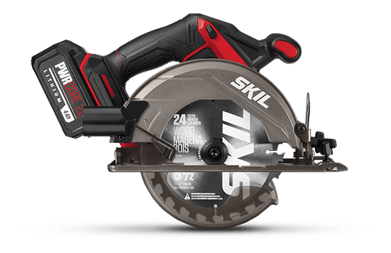 "Brushless 20V 6-1/2"" Circular Saw Kit with 4.0 Ah Lithium Battery and PWRJump™"